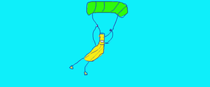 Parachuting Banana by Joekageplz