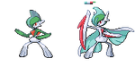 Mega Gallade (Front Only) by Falgaia
