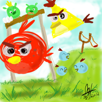 Angry Birds Scribble by ZOMBEHSRKEWL