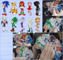 Selling Sonic Keychains by ScandinavianMonkey