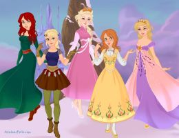 Rise of the Brave Tangled Frozen Dragons Girls by JohnnyCade4EVR