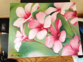 Flower oil painting~ by Kyraimi