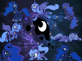Princess Luna's Generations by rularoftheNIGHT