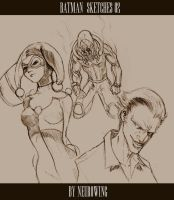 BATMAN SKETCHES 02 by neurowing