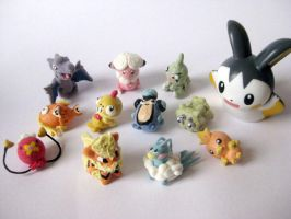 Super Tiny Pokemon Figure (part 1) by KeoDear