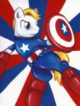 Captain America Pony by MilesofCrochet