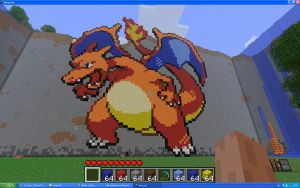 Charizard On Minecraft by Miccopicco