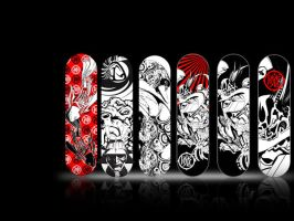 skateboard decks by danikungfuze
