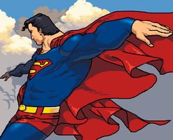 Superman in the Clouds by Marsonite