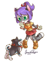 Blizzie and Amp Harvestmoon by IceCatDemon