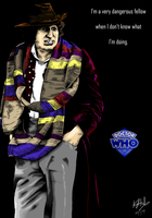 The Fourth Doctor - colour by The-13th-Doctor
