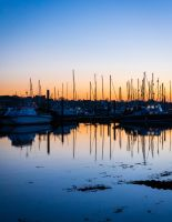 Yachts sunset by chivt800