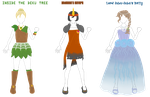 OoT Child Dungeon Dress Concepts by Ixtaek