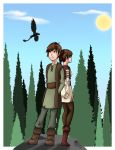 HTTYD Hiccup and OC Hava by happygurl4evr