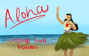 Hawaii Postcard by chrissybob777