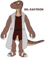 Dr. Raptron the evil scientist Velociraptor by MCsaurus