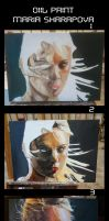 oil paint tutarial maria sharapova by ahmetbroge