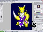 Renamon_WIP by GameNinja