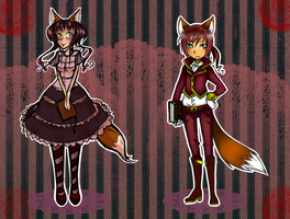 ADOPT Auction: Steampunk Twins GIRL LEFT by Theera