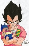 Vegeta and Baby trunks by alan181818
