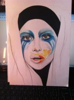 Lady Gaga Applause Album Art Drawing by KitaHorrocks-art