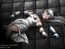 GLaDOS Wallpaper - Blue by Chaos--Child
