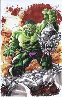 hulk vs. doomsday by ayk66