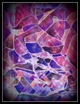 oldpaintingrevisited abstract purple digital by santosam81