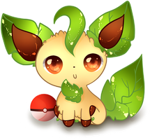 Leafeon Cutie .:Sunny Day:. by Ambercatlucky2