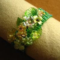 English Garden bracelet by Mimi-Mushroom