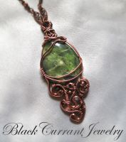Grass Green Jade Pendant by blackcurrantjewelry