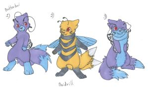 Butterbui and Buidrill adopts -CLOSED- by LittleWhiteWolfAngel