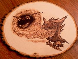 Haunter Smoking, Exhaling Gastly - Wood Burning by brandojones