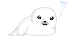 The Seal Pup Says Hi by ZelTheNeko