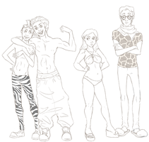 Madagascar: personifications by ASAMESHII