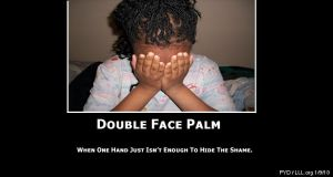 DoubleFacePalm- Demotivational by PlottingYourDemise