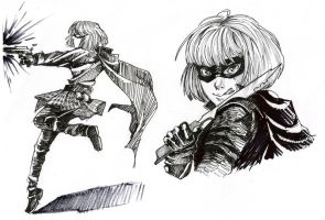 Hit Girl quickies by SoraKokiri