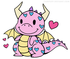 Lil Love Dragon Colored by KnightsNymph