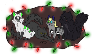 Holiday kittys. by CremexButter