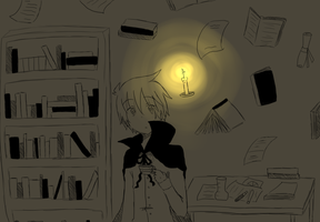 The Sorcerer and His Floating Library by Shimasteam2112