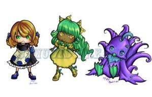 Moar Chibis by Bemused-Dreamer