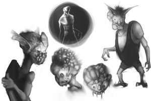 Alien/monster  sketches by FelFortune