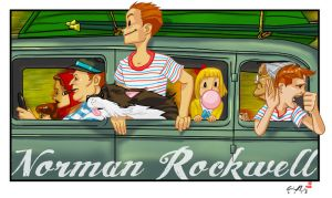Norman Rockwell tribute by TigerArtStudio