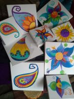 a group of painted squares by funkypam