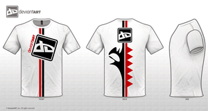 T-shirt white_red by nyolc8