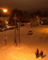Overlooking a Snowy Street by AngelND