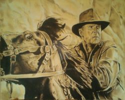 Indiana Jones 'Last Crusade' action illustration by illusgator