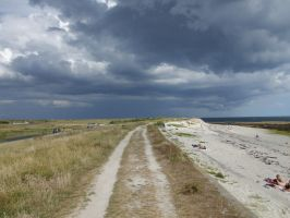 Storm on the Beach III by Anemya-Stock