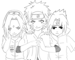 Team 7 Revival LINEART by TayaChan