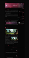 Blogspot template Dark star by stupid-owl